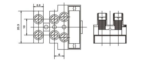 三相电机控制箱接线端子原理图